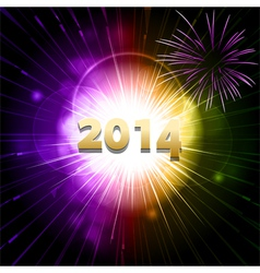 2014 new year firework2 vector image