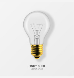 3d realistic golden off light bulb icon vector image