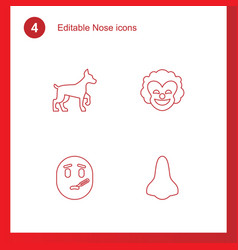 4 nose icons vector
