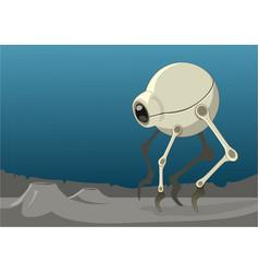 a spherical bug shaped alien robot or vehicle vector image