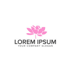abstract flower spa yoga and relax logo design vector image