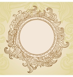 Abstract hand drawn frame with copy-space vector image