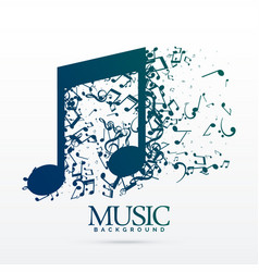 Abstract music notes design background vector