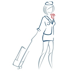Air hostess vector image