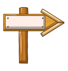 arrow wood sign icon cartoon style vector image