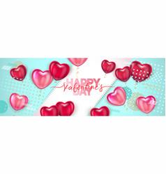 balloon hearts holiday of vector image