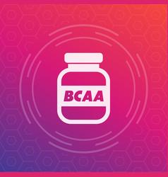 Bcaa amino sport nutrition icon vector