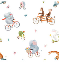 beautiful seamless pattern for children vector image