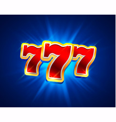 big win slots 777 banner casino background vector image