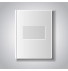 Blank book with white cover vector image