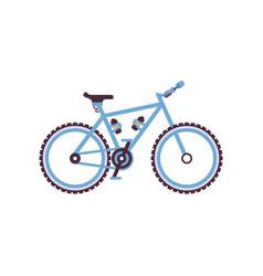 Blue hardtail bike modern bicycle vector