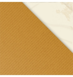 Brownpaper over crumpled white vector