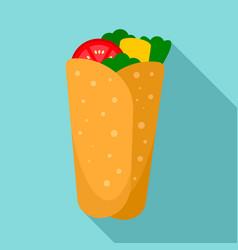 burrito icon flat style vector image