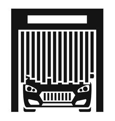 Car exit wash garage icon simple style vector