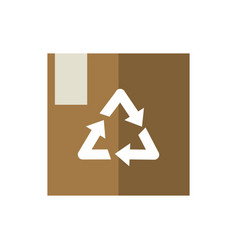 cardboard box package recycle green energy icon vector image