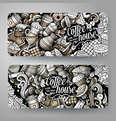 Cartoon graphics toned hand drawn doodles vector