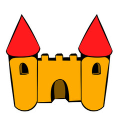 Castle icon icon cartoon vector