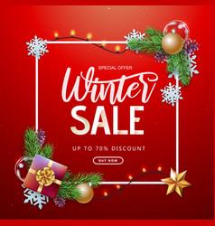 Christmas holiday winter big sale poster vector