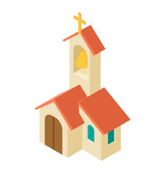 Church icon isometric style vector