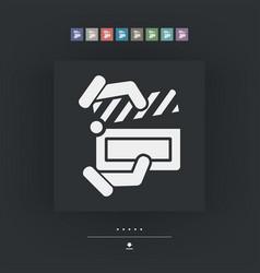 clapboard concept icon vector image