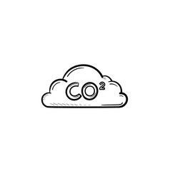 Co2 cloud hand drawn sketch icon vector