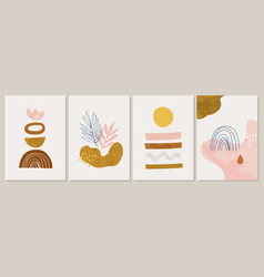 collection contemporary art posters terracotta vector image