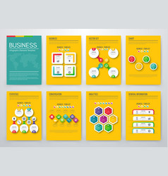 Color elements for infographics vector