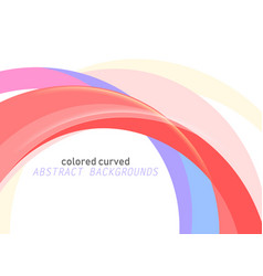 colored curved scene on a white vector image