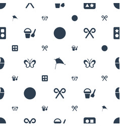Colorful icons pattern seamless white background vector