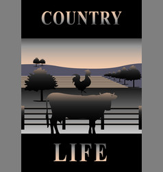 Cover country life vector