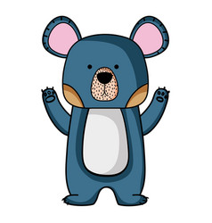 Cute bear wild animal of the forest vector