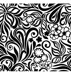 Excellent seamless floral background vector image
