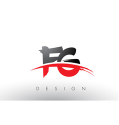 Fg f g brush logo letters with red and black vector