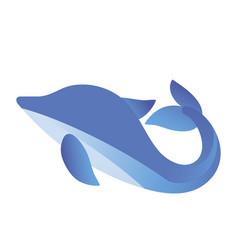 fish blue icon vector image