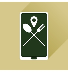 Flat web icon with long shadow mobile cafe vector image