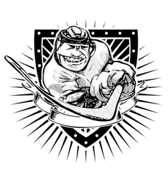 fun ice hockey shieldp vector image