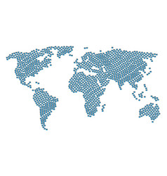 Global atlas collage of users icons vector
