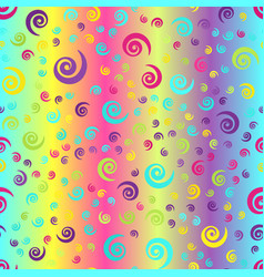 Glowing spiral background seamless gradient vector