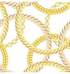 Gold Chain Jewelry Seamless Pattern Background vector