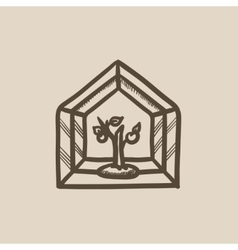 Greenhouse sketch icon vector