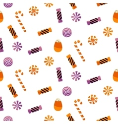Halloween candy sweet seamless pattern vector image