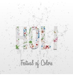 Holi paper Word with color Splashes vector