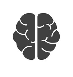 human brain glyph icon vector image