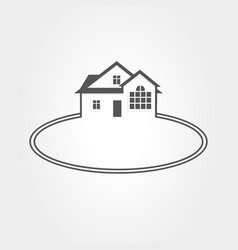 icon house real estate vector image