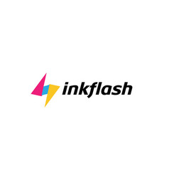 ink colorful flash symbol logo vector image