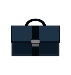 Isolated black suitcase design vector image