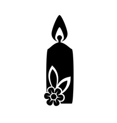Isolated candles cartoon vector