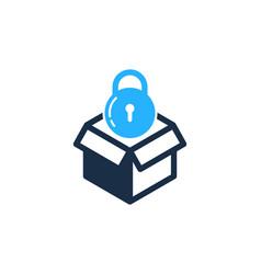 lock box logo icon design vector image
