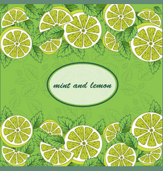 Mint-and-lemon vector