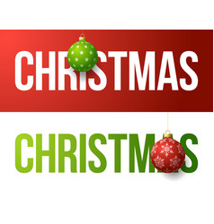 modern trendy colorful typography christmas vector image